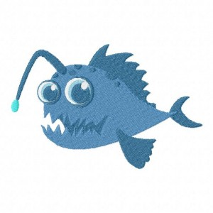 Monster Anglerfish Machine Embroidery Design