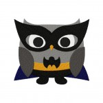 Night Owl Super Hero Machine Embroidery Design