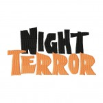 Night Terror Machine Embroidery Font Set