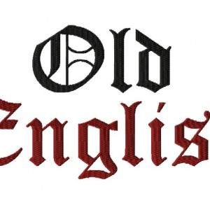 Old English Machine Embroidery Font Set