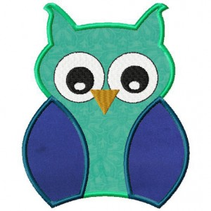 Machine Owl Applique