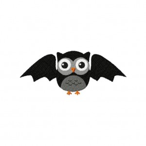 Owl Bat Machine Embroidery Design