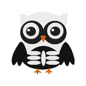 Owl Skeleton Embroidery Designs