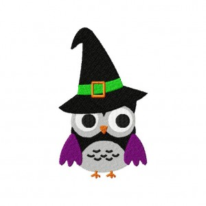 Owl Witch Machine Embroidery Design