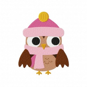 Winter Time Owl Machine Embroidery Design