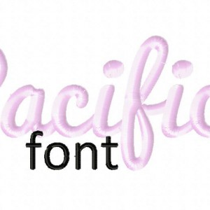 Pacifico Machine Embroidery Font Set