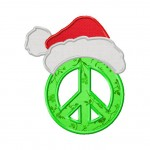 Peace and Christmas Machine Embroidery Design Includes Both Applique and Fill Stitch