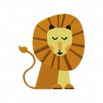 Peaceful Lion Machine Embroidery Design
