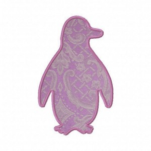 Penguin Silhouette Machine Applique Design