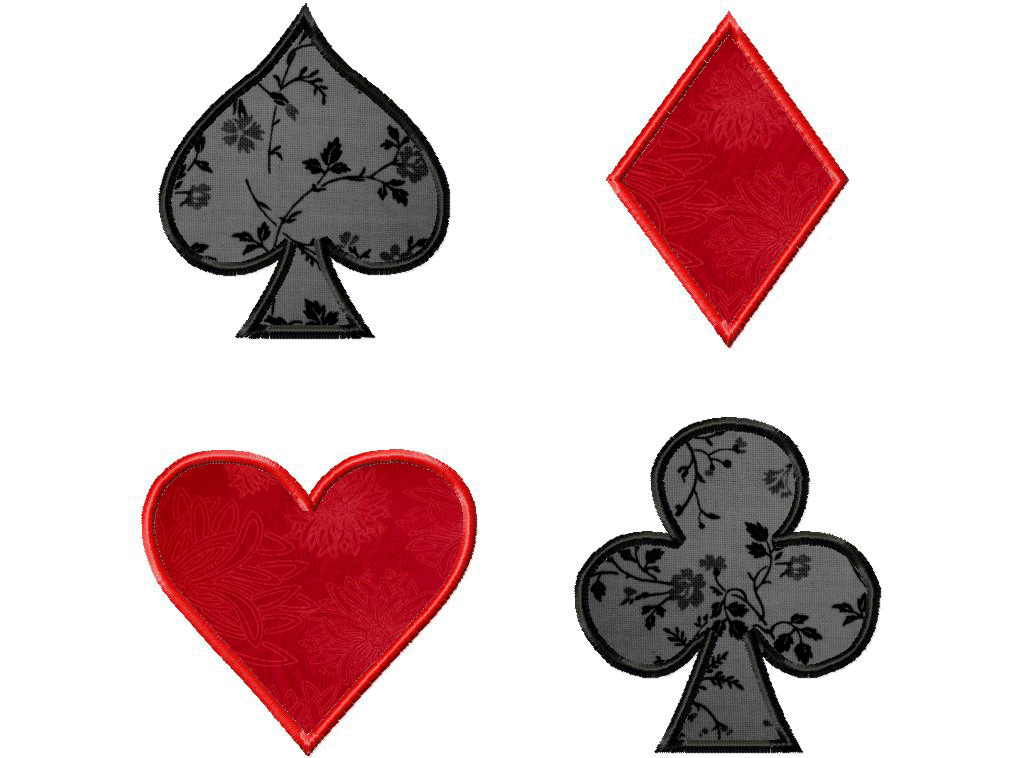 pictures of the 4 suits of cards