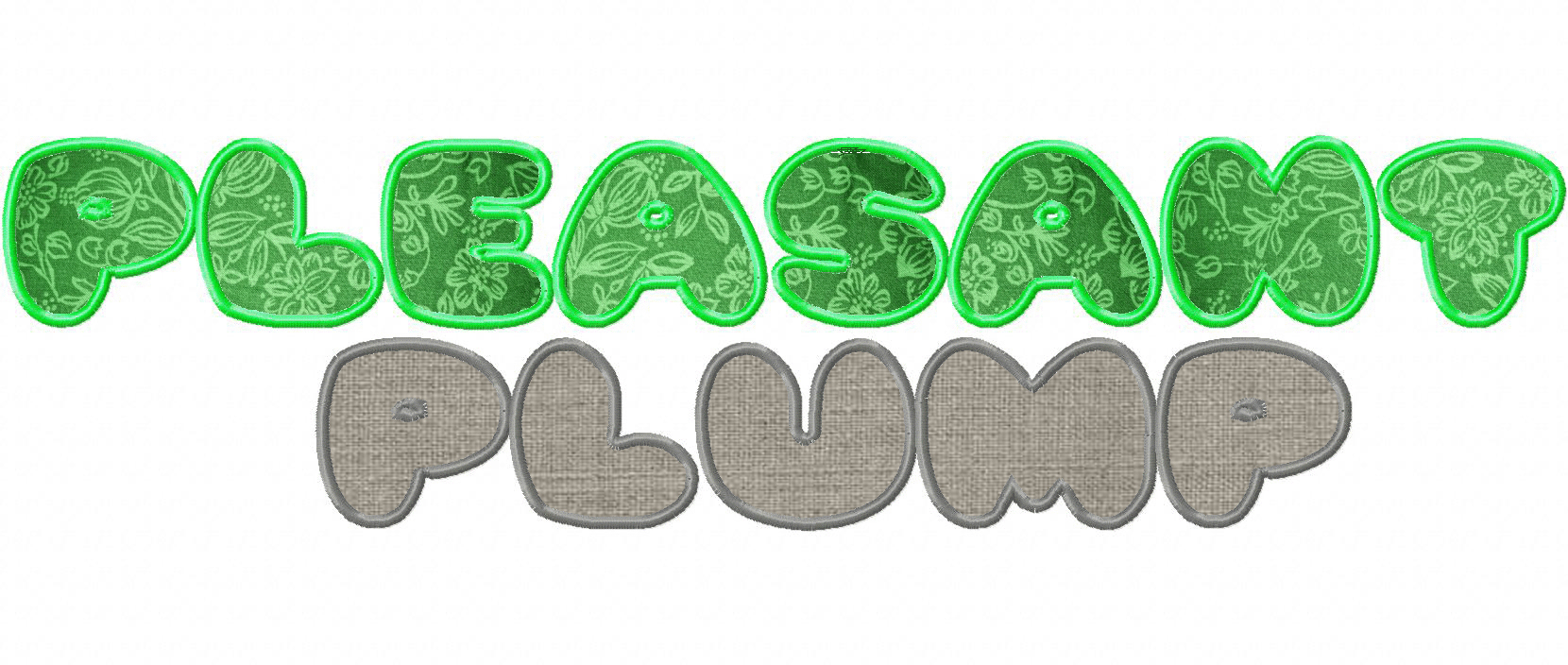 Pleasantly Plump Machine Applique Font Set