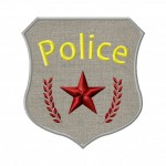 Police Badge Machine Applique