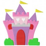 Majestic Princess Castle Machine Embroidery Design