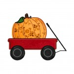 Pumpkin Wagon Machine Embroidery Design