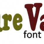 Pure Vain Machine Embroidery Font Set