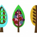 Retro Tree Pack II Embroidery Designs