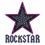 Rockstar Design Includes Both Applique and Fill Stitch