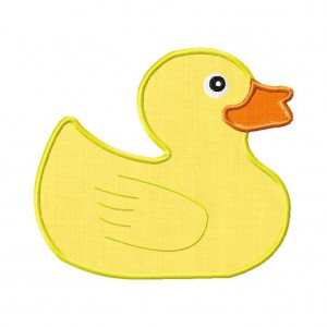 Rubber Ducky Machine Embroidery Includes Both Applique and Fill Stitch
