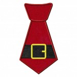 Christmas Holiday Applique Santa or Elf Tie