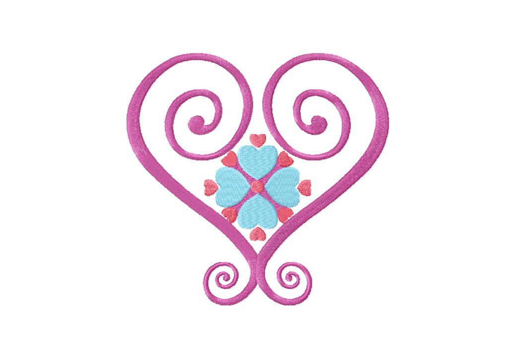 Satin Hearts Machine Embroidery Design