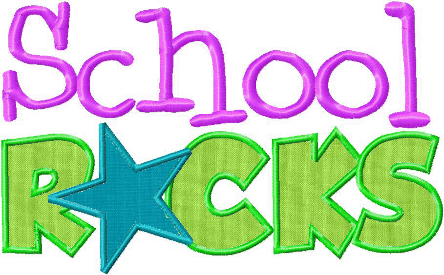 School Rocks Machine Embroidery Two Pack Includes Both