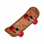 Skateboard Machine Embroidery Includes Both Applique and Fill Stitch