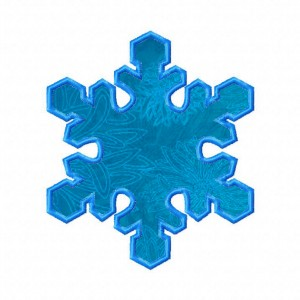 Snowflake Machine Embroidery Includes Both Applique and Fill Stitch