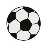 Embroidery Design Soccer Ball Includes Both Applique and Fill Stitch