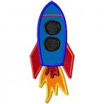 Blasting Space Rocket Machine Embroidery