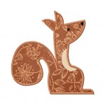 Squirrel Embroidery Design Includes Both Applique and Fill Stitch