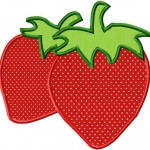 Strawberries includes both Applique and Fill Stitch