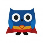 Super Hero Owl Machine Embroidery Design