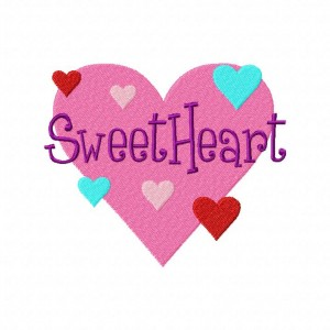 Sweet Heart Machine Embroidery Design