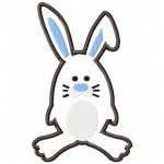 The Bunny Machine Embroidery Design Includes Both Applique and Filled Stitch