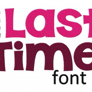 The Last Time Machine Embroidery Font Set