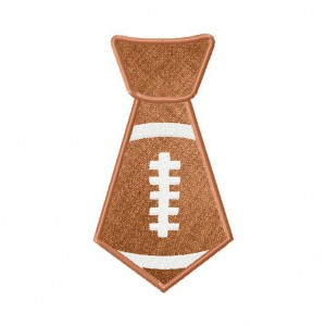 Football Tie Applique