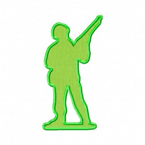 Toy Soldier Trooper Machine Embroidery Designs Includes Both Applique and Filled Stitch