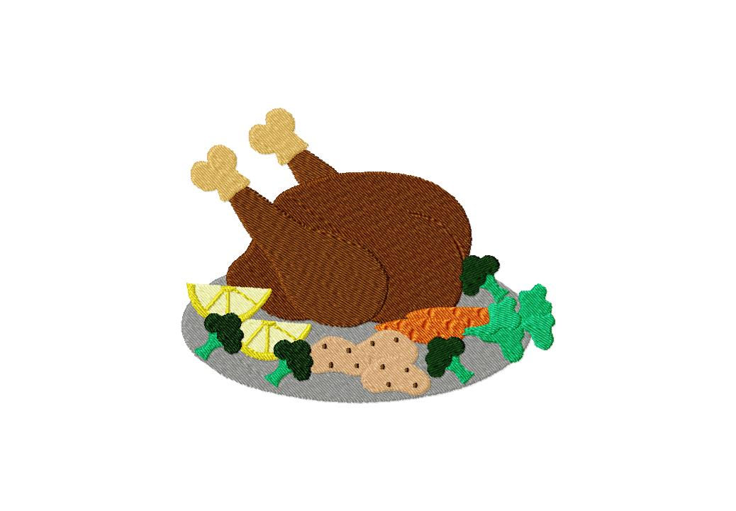Turkey Feast Machine Embroidery Design  Daily Embroidery