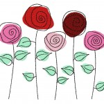 Wild Rose Garden Machine Embroidery Design