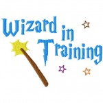 Wizard in Training Machine Embroidery Design