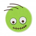 Zombie Face Applique 6 Inch