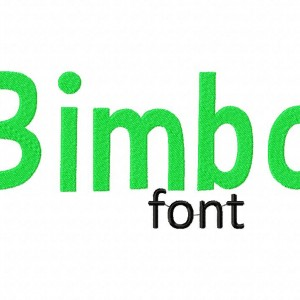 Bimbo Machine Embroidery Font Set