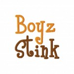 Boyz Stink Machine Embroidery Font Set
