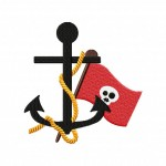 Ahoy Pirate Anchor Stitched 5_5 Inch