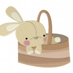 Bunny In Basket Stitched 5_5 Inch