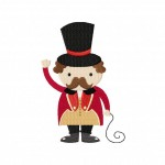 Circus Ringmaster Stitched 5_5 Inch