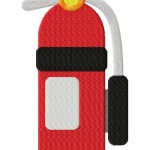 Firefighter Extinguisher Stitched 5_5 Inch