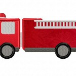 Firefighter Truck Applique 5_5 Inch
