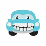 Happy Car Stitched 5_5 Inch