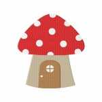 Mushroom House Stitched 5_5 Inch